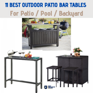 11 Best Portable Outdoor Patio bar Tables Reviews