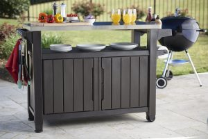 Keter Unity XL Portable Outdoor Table and Storage Cabinet