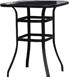 Emerit Patio Bar Tables, Outdoor Bistro Bar Height Table